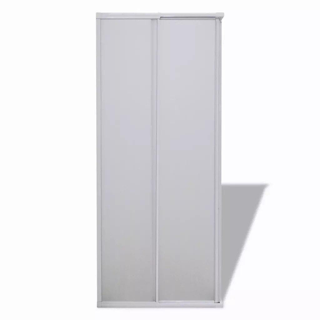 VidaXL paroi pare-baignoire douche 2 panneaux fixes 2 portes coulissantes pliable cadre aluminium pare-baignoire 80X80 Cm pour salle de bain SV3 - 4