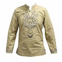 Dashiki мужское лицо с вышивкой lehenda длинным рукавом перьевые
