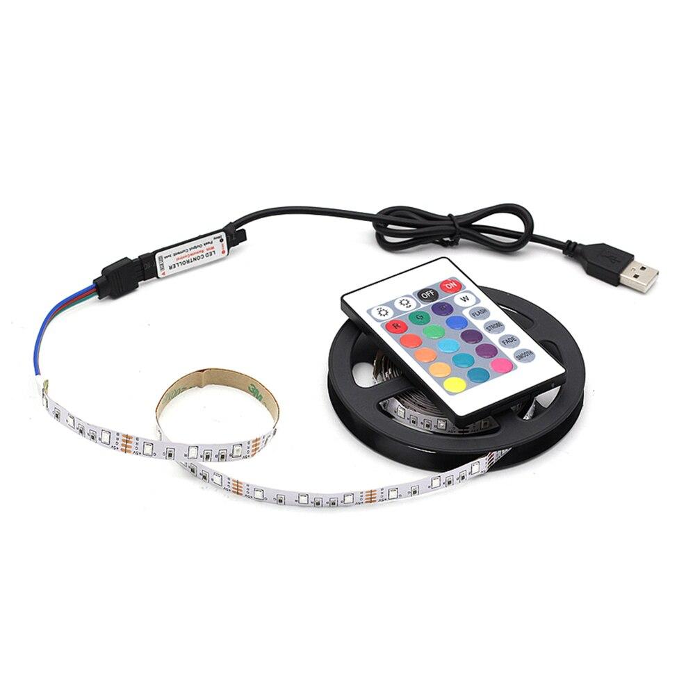 1M 2M 3M 4M 5M USB LED Strip Lamp 2835SMD DC5V Flexible RGB LED Light Tape Ribbon HDTV TV Desktop Screen Backlight Bias Lighting