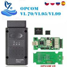 V1.99 op com v1.7 v1.95 ferramenta de diagnóstico para opel opcom 1.7 op com com com firmware pic18f458 v1.99 obd2 cabo diagnóstico opcom 1.99