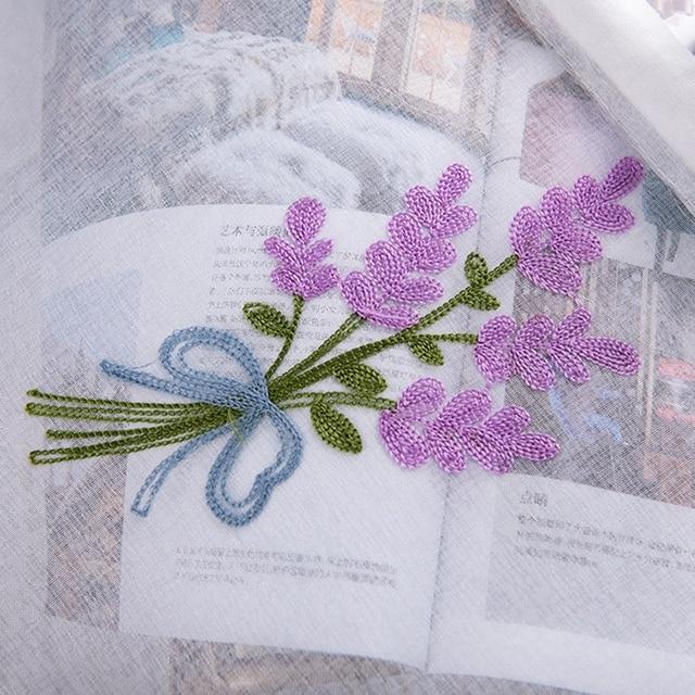50x100CM/150CM Rod Pocket Embroidered Kapok Flowers Semi Tier Curtain Short Curtain For Kitchen Bathroom Living Room 6