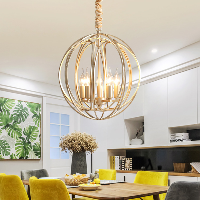 Luxury Crystal Chandeliers Lighting Dia 48cm Classic Gold Vintage Retro Italian Hanging Dining Room Lamp