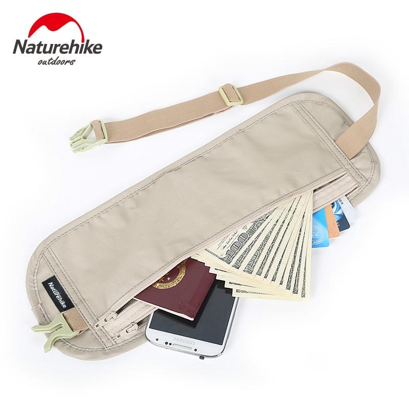 Скрытая поясная сумка-кошелек (Naturehike/29,5х11 см/3 цвета) для денег и документов