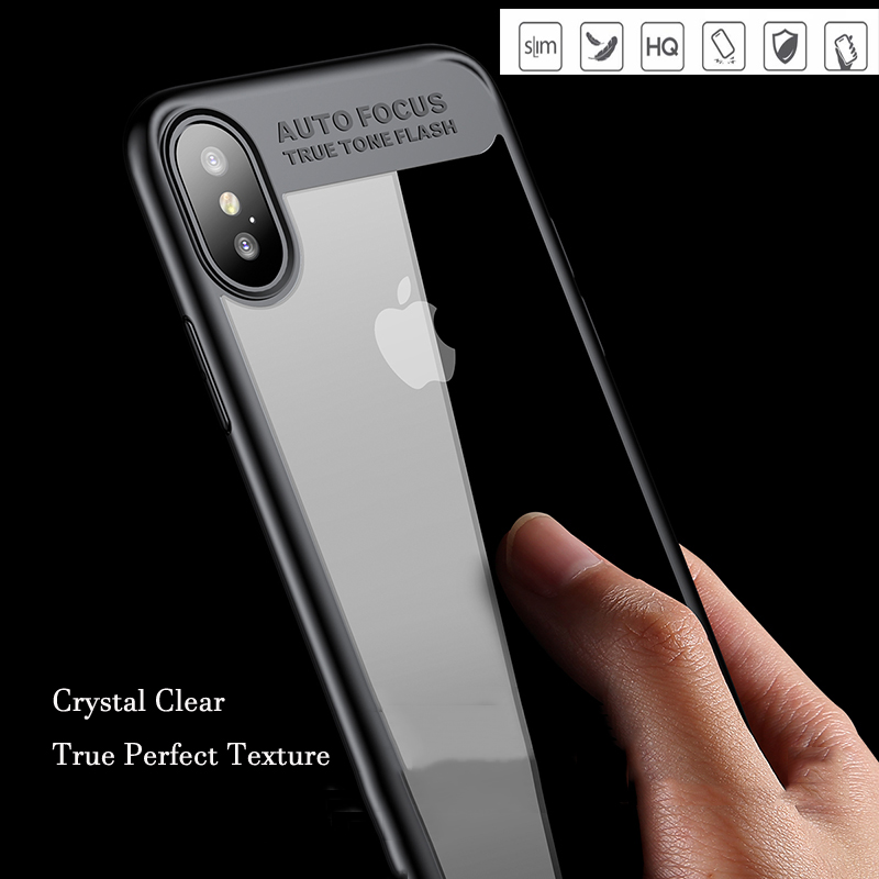 Oppselve Luxury Case For iPhone 8 7 6 s Ultra Thin Capinhas PC TPU Silicone Cover Case For iPhone X 8 7 6 6s Plus Coque Fundas in Fitted Cases from Cellphones Telecommunications