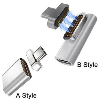 20 Pinos Adaptador USB C Magnético Tipo C Conector PD 100 W Carga Rápida Ímã Conversor Tipo-C Para Macbook / Pixelbook / Matebook 1