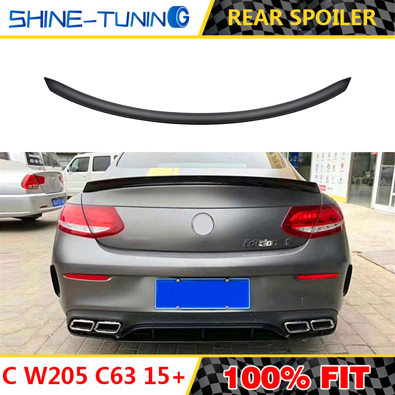 Painted Mercedes BENZ C-Class C205 2DR AMG Rear Trunk Spoiler Wing C350 C200