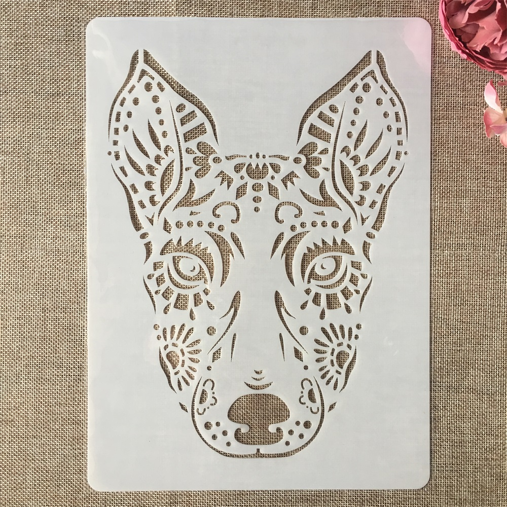 A4 29x21cm Hand Draw Dog DIY Layering Stencils Painting Scrapbook Coloring Embossing Album Decorative Template