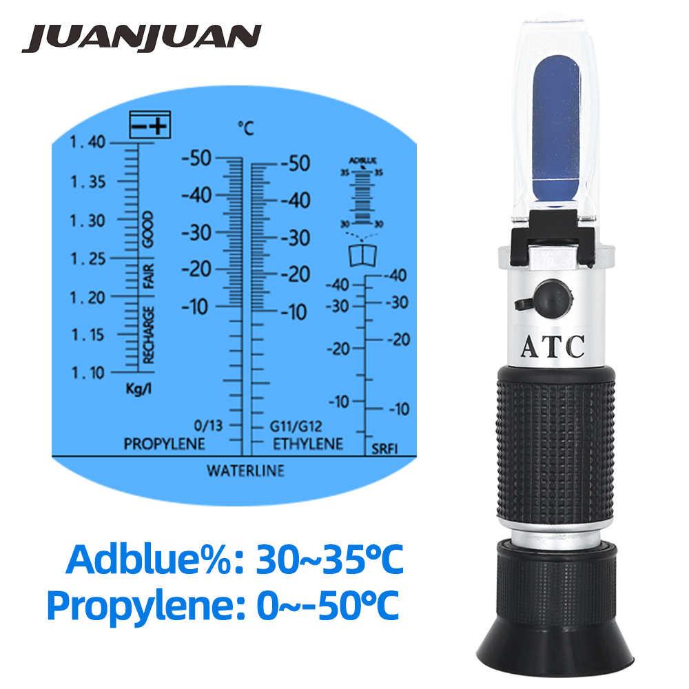 הגעה חדשה 4 ב 1 יד כף רכב Refractometer רכב אוריאה Tester 30-35% Adblue נוזל גליקול סוללה אנטיפריז עם ATC 47% off