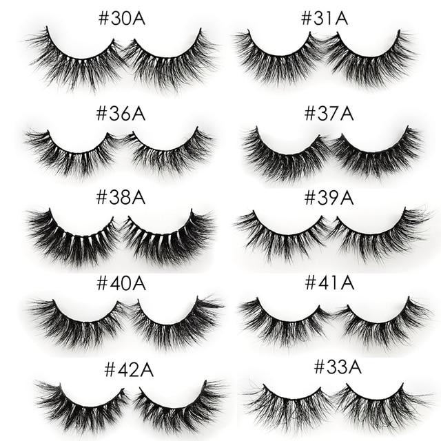 YSDO 1 Pair 3D Mink Eyelashes Fluffy Dramatic Eyelashes Makeup Wispy Mink Lashes Natural Long False Eyelashes Thick Fake Lashes 6