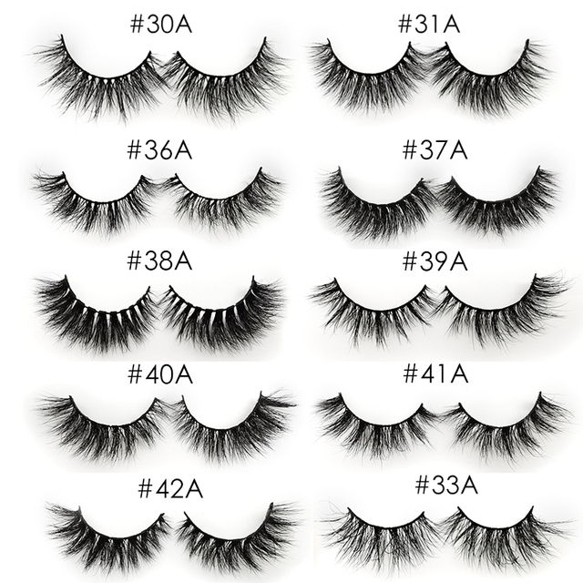 YSDO 1 Pair 3D Mink Eyelashes Fluffy Dramatic Eyelashes Makeup Wispy Mink Lashes Natural Long False Eyelashes Thick Fake Lashes 5