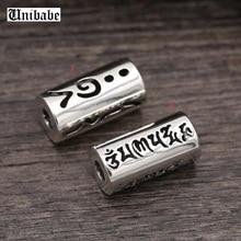 925 стерлингового серебра ювелирные изделия шесть слов мантра полая труба кулон(FGL