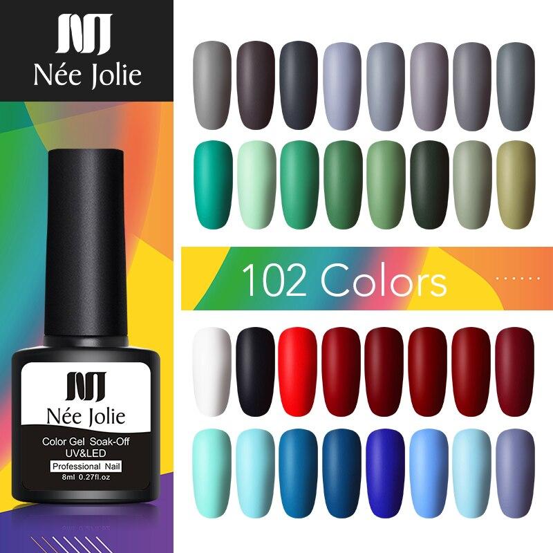 NEE JOLIE 8ml UV Gel Nail Polish LED Nail Varnish Red Gray Gel Long Lasting Gel Soak off Nail Art varnish DIY Designs Nail Gel    - AliExpress