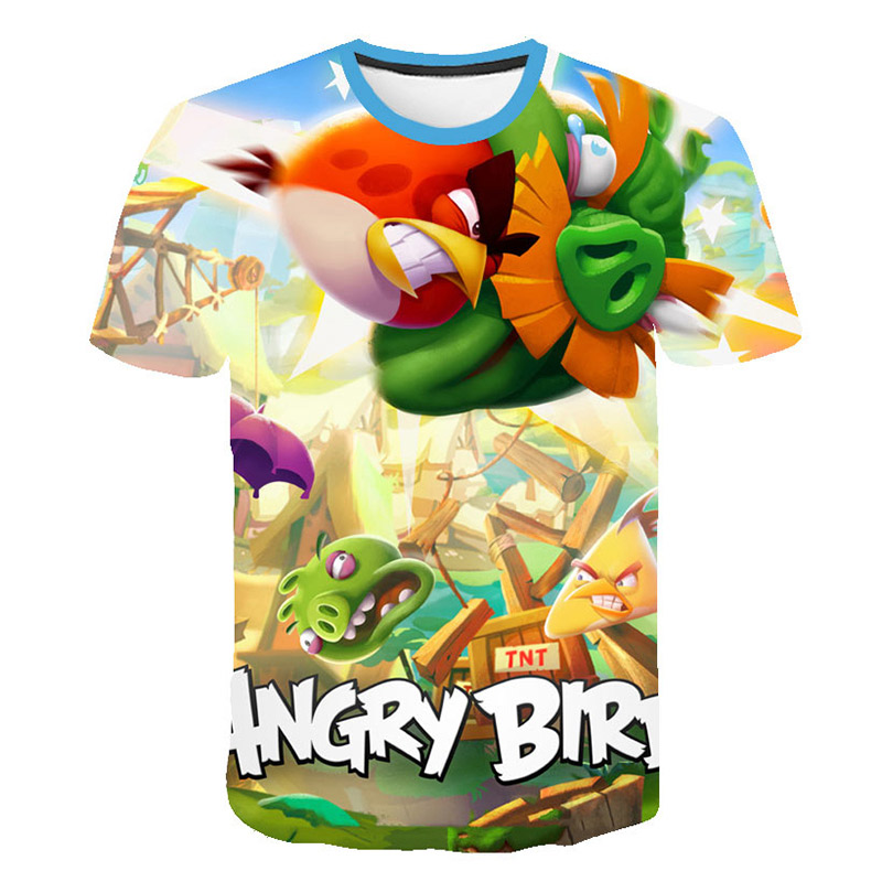 2019 New Arrival 3D Printed Birds Movie <font><b>2</b></font> T <font><b>Shirt</b></font> children Casual Short Sleeve Angry Summer Streetwear Tops image
