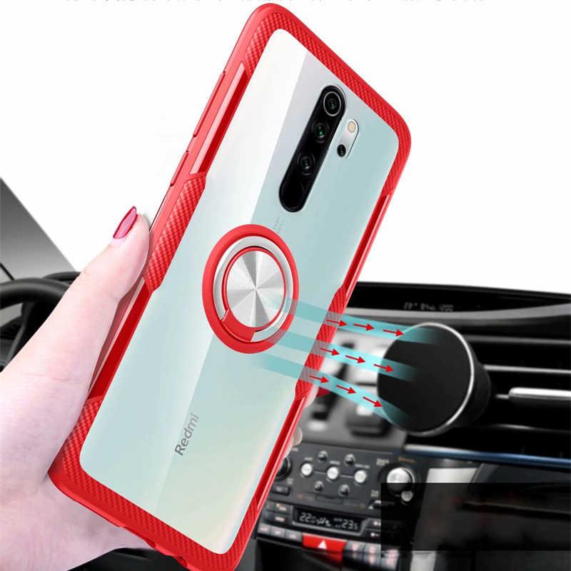 Trong Suốt Đế Nam Châm Giữ Điện Nhẫn Ốp Điện Thoại Cho Xiaomi Redmi Note 8 Pro Ốp Lưng Silicon Trên Nắp Nồi Cơm Điện Từ Xiaomi Redmi note 8 Pro