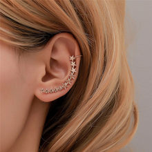 Pinksee New Fashion Romantic Small Stars Ear Cuff Clip On Earrings for Women Girls Party Club Curved Jewelry Accessories(China)