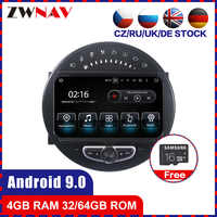 4+64 touch screen Android 9.0 Car multimedia Player GPS Audio for Mini Cooper 2006-2013 radio video stereo head unit BT free map