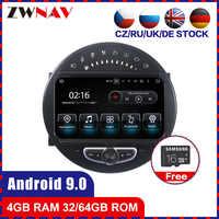 4 + 64 schermo di tocco del Android 9.0 Car multimedia Lettore GPS Audio per Mini Cooper 2006-2013 radio video unità di testa stereo BT mappa gratuita