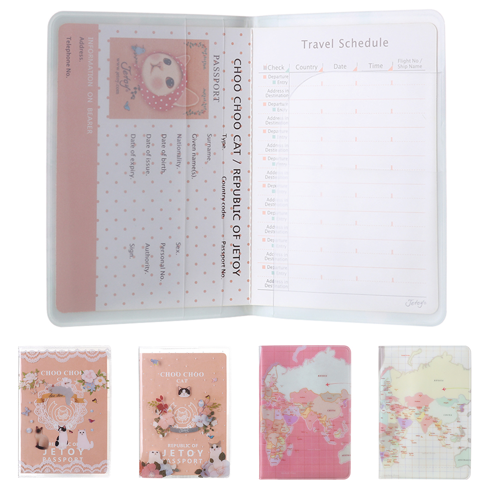 1Pcs New Travel Passport Holder Document Card Cute Cartoon Passport Case Cover Credit Card Protect Cover Travel Accessories Gift