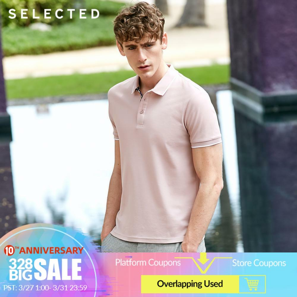 SELECTED Men's Summer Pure Color Turn-down Collar Short-sleeved Polo S 419206515