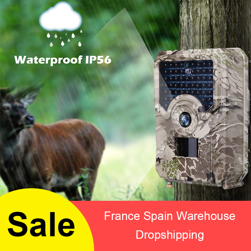 Pr200  Trail Camera 12mp 940nm Ir Led Hunting Camera Ip56 Waterproof 18650 Battery Wild Camera Night Vision Traps Scout