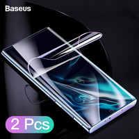 Protector de pantalla Baseus 2 uds para Samsung Galaxy Note 10 Plus Note10 0,15mm película protectora frontal completa para Note 10 Glass