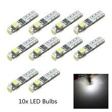 LED Wedge Bulb Light Car dashboard light 10pcs White 6000K 58 70 73 74 T5 Dashboard Gauge 3 3528 SMD xm lt6 885lm led emitter 6000k white light bulb 3 0 3 5v