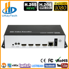 HEVC H.265 H.264 HDMI To IP Video Stream Encoder Live Streaming HD Video IPTV Encoder 4 Channels HDMI To HTTP RTSP RTMP Encoder
