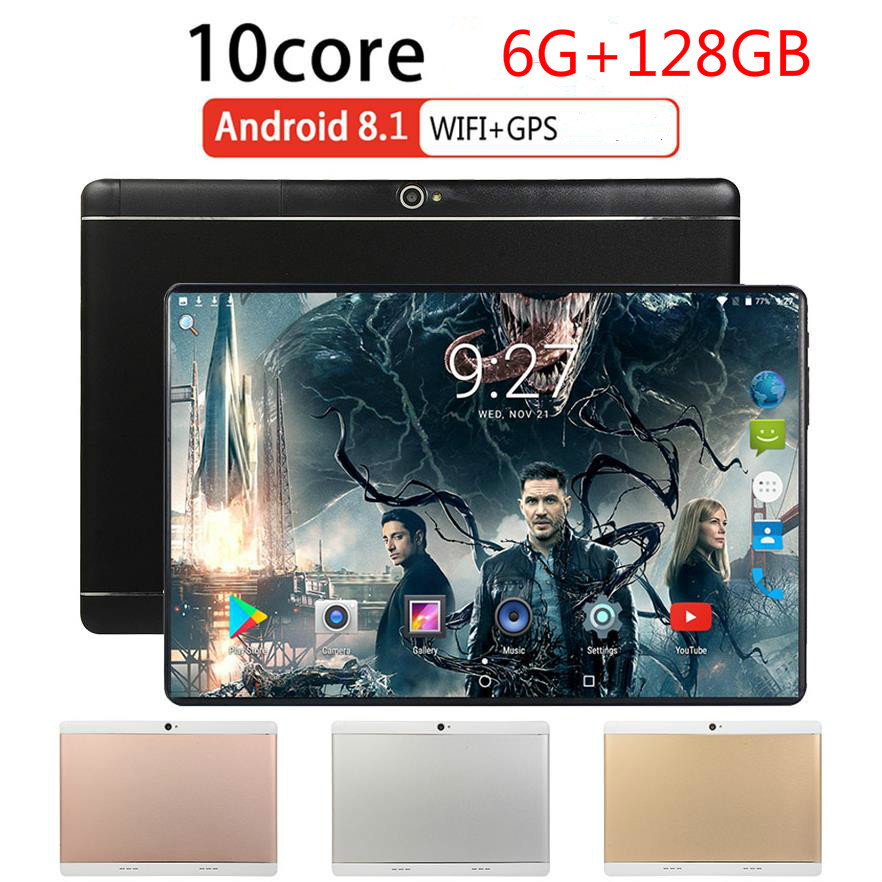 New Arrive 10.1 Inch Tablet PC RAM 6GB ROM 128GB 1280*800 IPS Screen Tablet 10 Core Dual SIM Card Phone 4G Call Wifi Tablet Gift