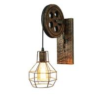 CE hierro vintage Luz de pared interior e27 accesorio flexible retro pared del dormitorio diseño de lámpara loft elevación aplique de pared industrial bra