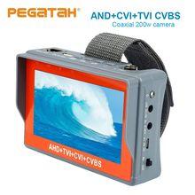4.3 inç AHD 5MP 1080P kamera test cihazı AHD TVI CVI Analog CVBS 1 CCTV tester monitör desteği PTZ ses test cctv test cihazı