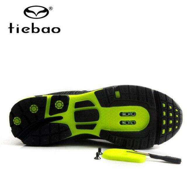 Tiebao ciclismo sapatos auto-lock mtb respirável malha superior sapatos de bicicleta ao ar livre sapatos de lazer dos homens tênis zapatillas mtb 5