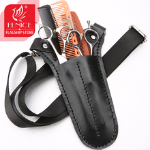 Fenice 2-4 Packs Pet Scissors Bag Leather Hair Care Tools Salon Barber Holster Toolkit Hairdressing Pockets Hairstylist Pouch high quality pu leather barber hair scissors pet scissors bag salon hairdressing holster pouch case hair styling tools