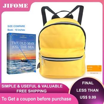 JIFOME 10.5inch Girls Backpack Purse Female Fashion cute travel Bag Women waterproof Mini For Teenage Kids school bag