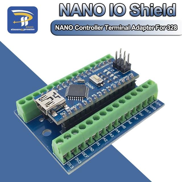 ナノ V3.0 3.0 コントローラ端子アダプタ拡張ボードナノ io シールドシンプルな延長プレート arduino の avr ATMEGA328P