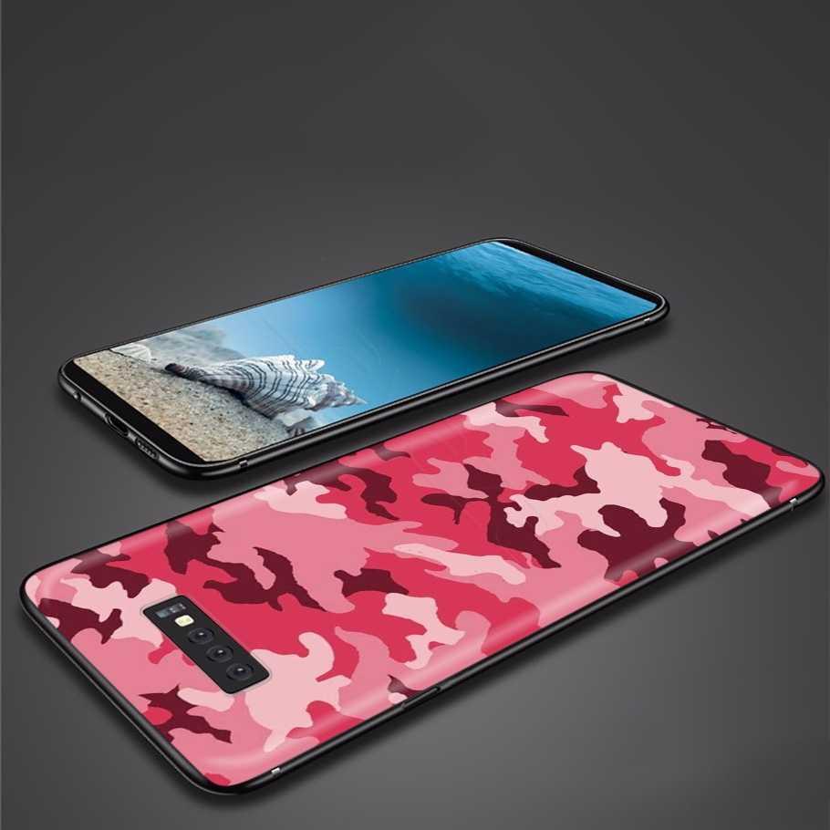 Lavaza Ngụy Trang Camo Quân Đội Quân Ốp Lưng Silicon Dành Cho Samsung Galaxy Samsung Galaxy A2 J4 Core J6 J7 Bộ Đôi J8 2018 Plus Thủ a20E A70S