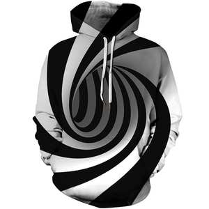 T-Shirt Short-Sleeve Hooded Male Mens Summer 3D Tees Tops Geometric Slim-Fit Digital-Printing