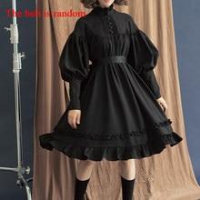 Vestido gótico Lolita en 5 colores, ropa japonesa de algodón suave para hermana y mujer, vestido de princesa, disfraz de Halloween para niña
