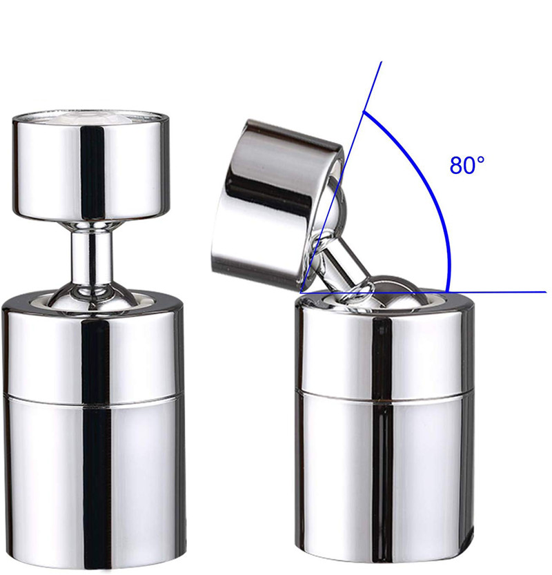 Kitchen Sink Aerator ABS/Copper Big Angle Swivel Faucet 2 Function Faucet Accessories Tip Filter Foamer Aerators