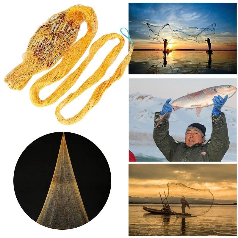 Shrimp Cage Fishing Cage Fishing Net Durable Practical Nylon 600 Mesh Yellow Fish Line Crawfish Folding Fishnet Fishery