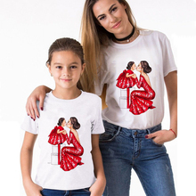 Mother and Daughter Clothes Baby Girl Clothes Family Look Outfits Vintage Beautiful T shirt  Super Mom T-shirts Spring Summer