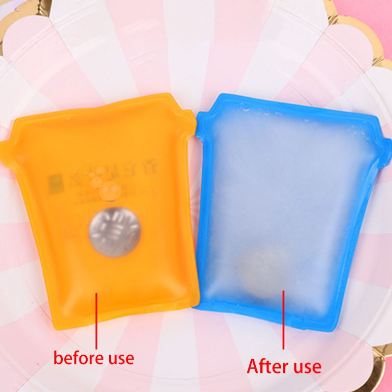Mini Winter Reusable Gel Hand Warmer Cute Funny Word Print Instant Heating Pack Gel+PVC 8x6cm Random Color