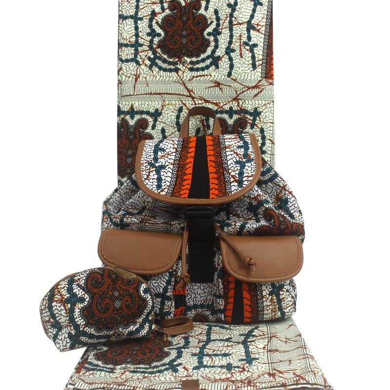 2019 créateur de mode sac de cire africaine impression africaine et sac à main/cire africaine avec sacs/tissus africains H17101801