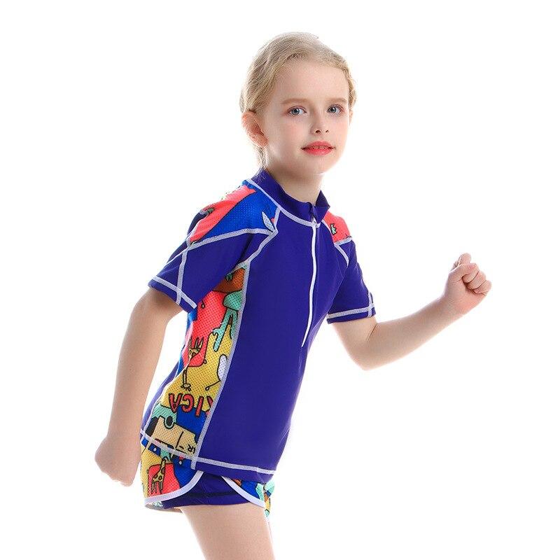 Children Two-piece Swimsuits New Style CHILDREN'S Swimwear 6-14-Year-Old Childrenswear Bathing Suit Big Boy Bathing Suit Xue She