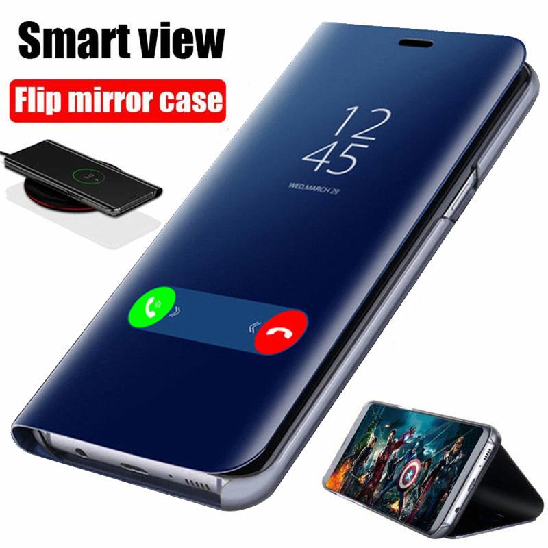 Smart Mirror Flip Case For Xiaomi Redmi Note 10 9 9s 8 8T Poco X3 NFC M3 7 10s Pro Max 6A 7A 9A 9C Mi 9T 10T Lite Cover Coque