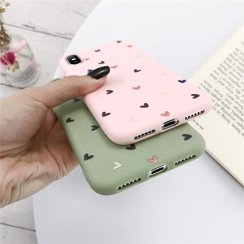 Love Heart Silicone Phone Back Shell For iPhone 11 Pro X XR XS Max 7 8 6 6s Plus 5 5s SE 4