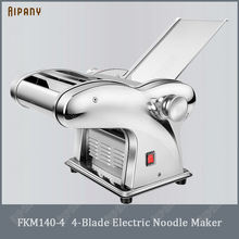 Electric-Noodle-Maker Pasta-Maker-Machine Dough-Roller Automatic with 1/2/3/4-blade Stainless-Steel