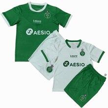 2021 crianças conjuntos saint etienne uniformes meninos e meninas esportes crianças camisas + shorts ternos de treinamento em branco conjunto personalizado