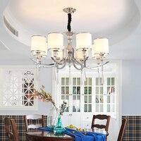Europa país 9 cabeça vela lustre americano retro lâmpadas decoração para casa iluminação e27 110-240 v