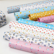 10pcs Christmas Wrapping Paper Small Fresh Floral Gift Cartoon Wave Dot Striped  Wrap