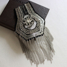 Dress accessories fringed epaulettes diamond-studded shoulder jewelry fashion clothing accessories metal accessories